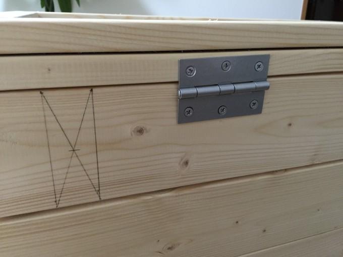 木製ケージの蝶番