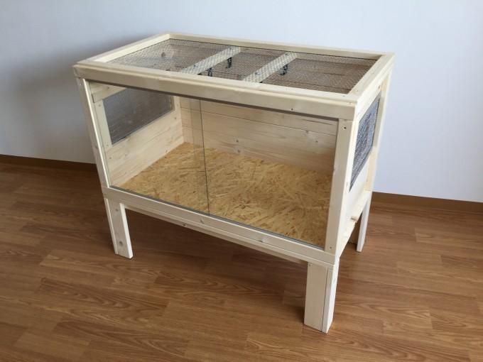 完成した木製自作ケージ