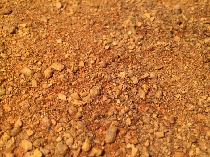 サンドマットの砂肌