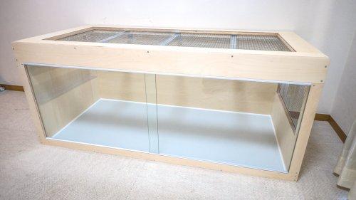 ラフネックモニター用木製ケージ